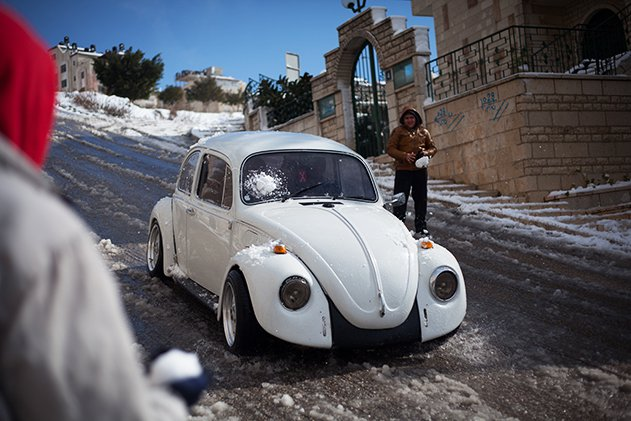 Snow in Middle East