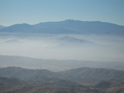 Haze at Joshua Tree National Park.