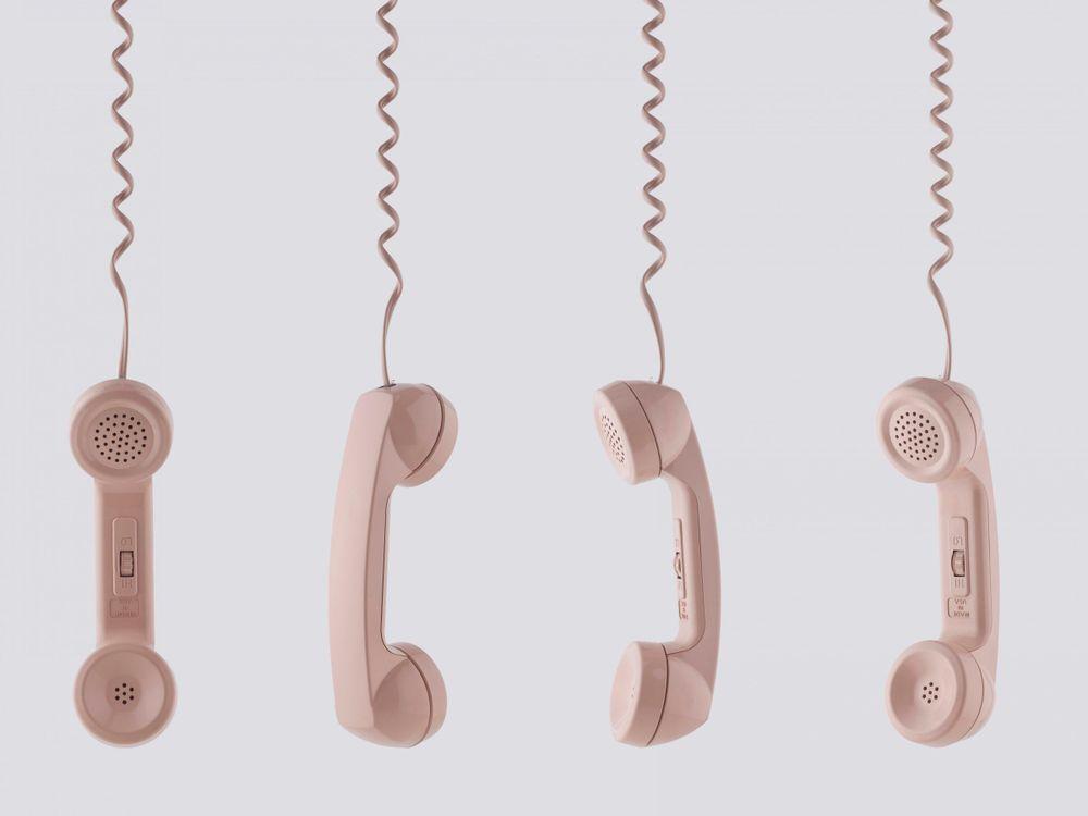 Pink Phone Receivers