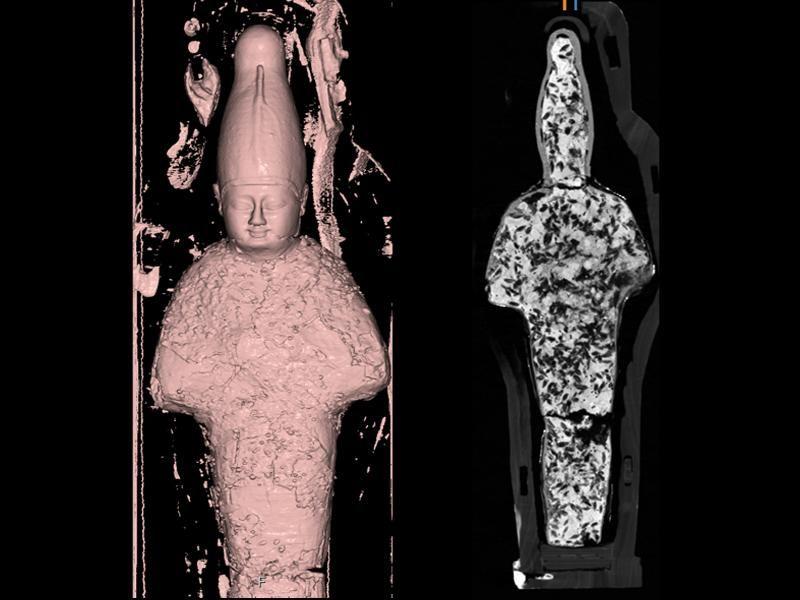 Grain mummy shaped like Osiris