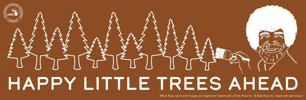 Michigan Plants 1,000 'Happy Little Trees' in Honor of Bob Ross