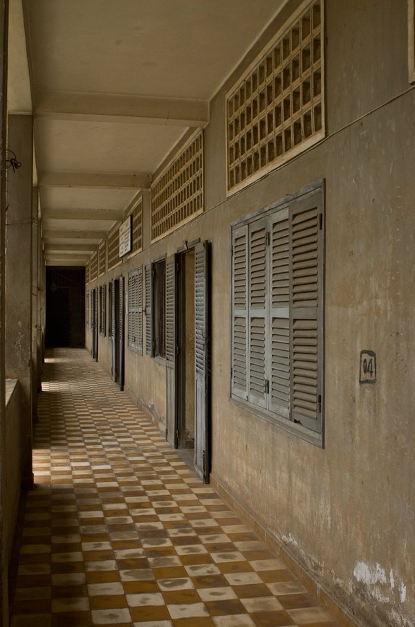 Outdoor Corridor at Tuol Sleng Genocide Museum in Phnom Penh Cambodia thumbnail