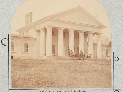 Photograph of Robert E Lee's Arlington house taken in 1861