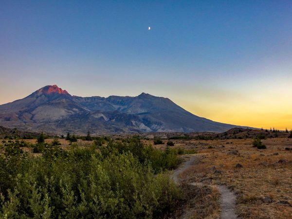 Sunset at Mount Saint Helen's National Monument. thumbnail