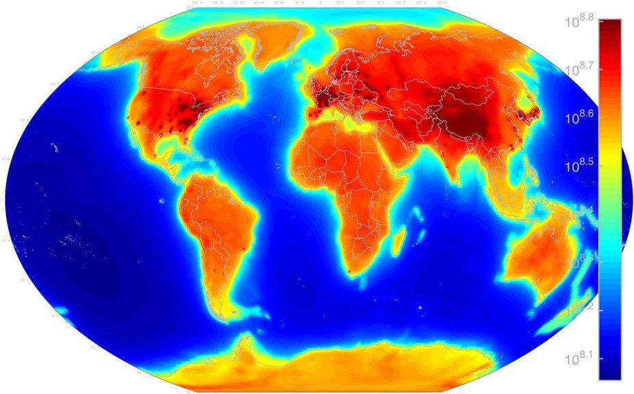Antineutrino map