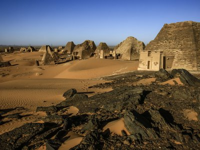 The Meroe pyramids in northeastern Sudan sit about1,650 feet from the banks of the Nile. Now, the site's royal bath is at risk of damage from record flooding.