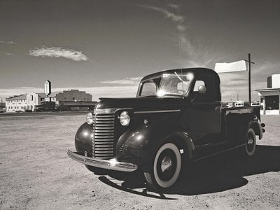 An early example of stylish appeal: the 1940 Chevrolet  half-ton.