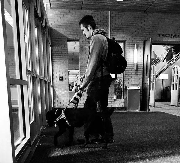 student and a dog thumbnail