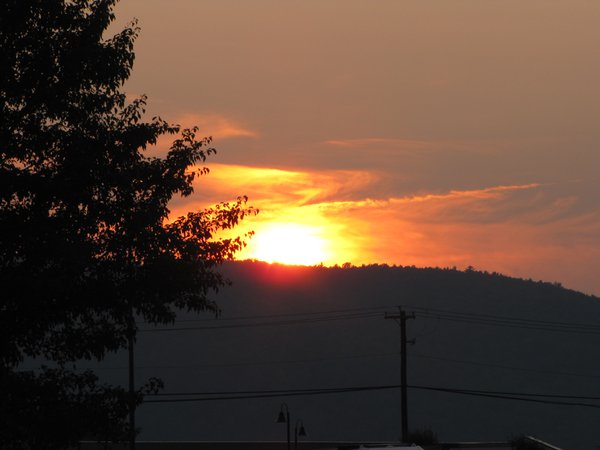 sun set over hills thumbnail