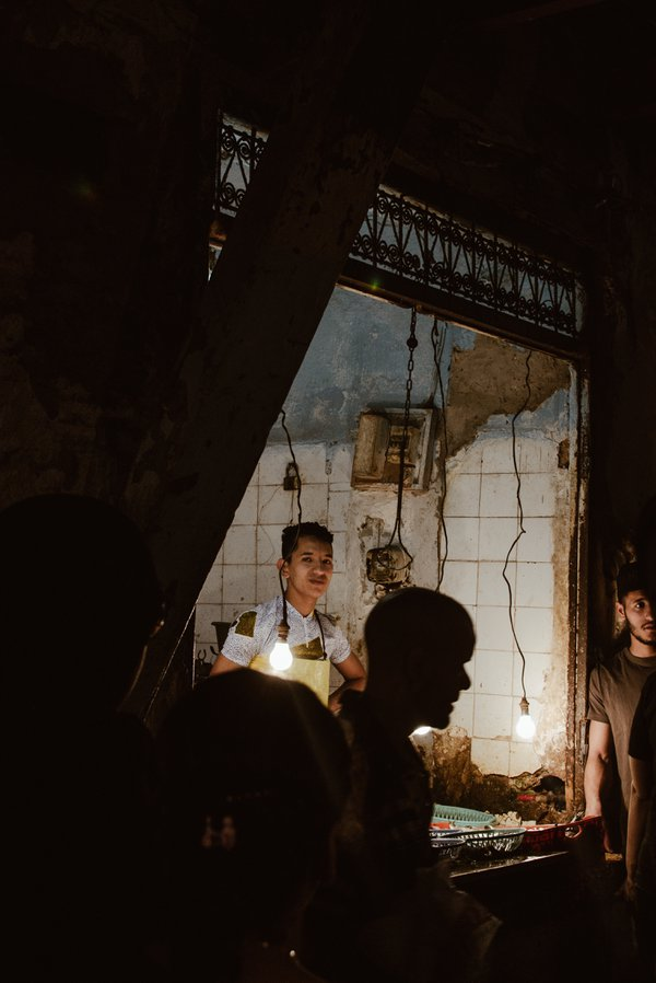 Butcher in Fez Medina thumbnail
