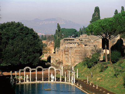 Villa Adriana, or Hadrian's Villa, is a Unesco World Heritage Site in Tivoli, Italy, that spans 200 acres and was built around 210 A.D. by Roman leader Hadrian.