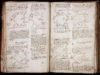 A spread from one of the casebooks volumes.
