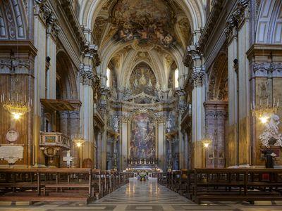 Rome's Basilica dei Santi Apostoli has housed bones said to belong to St. James and St. Philip since the sixth century A.D.
