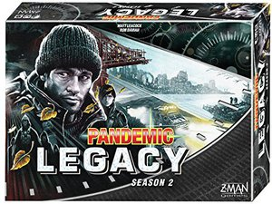 Preview thumbnail for 'Pandemic Legacy Season 2 Black Edition Board Game | Board Game for Adults and Family | Cooperative Board Game | Ages 13+ | 2 to 4 players | Average Playtime 60 minutes | Made by Z-Man Games