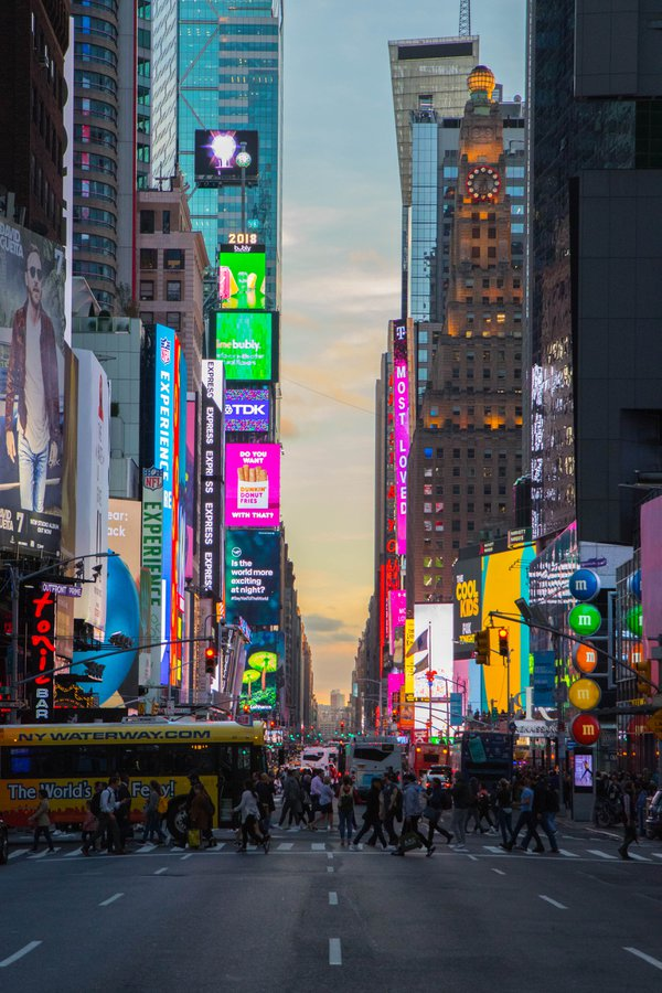 Twilight at Times Square thumbnail