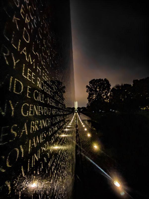 A Rainy Reflection at the Vietnam Veteran's Memorial thumbnail