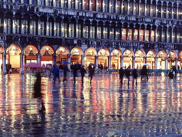 St Marks Square rainy season Venice Italy