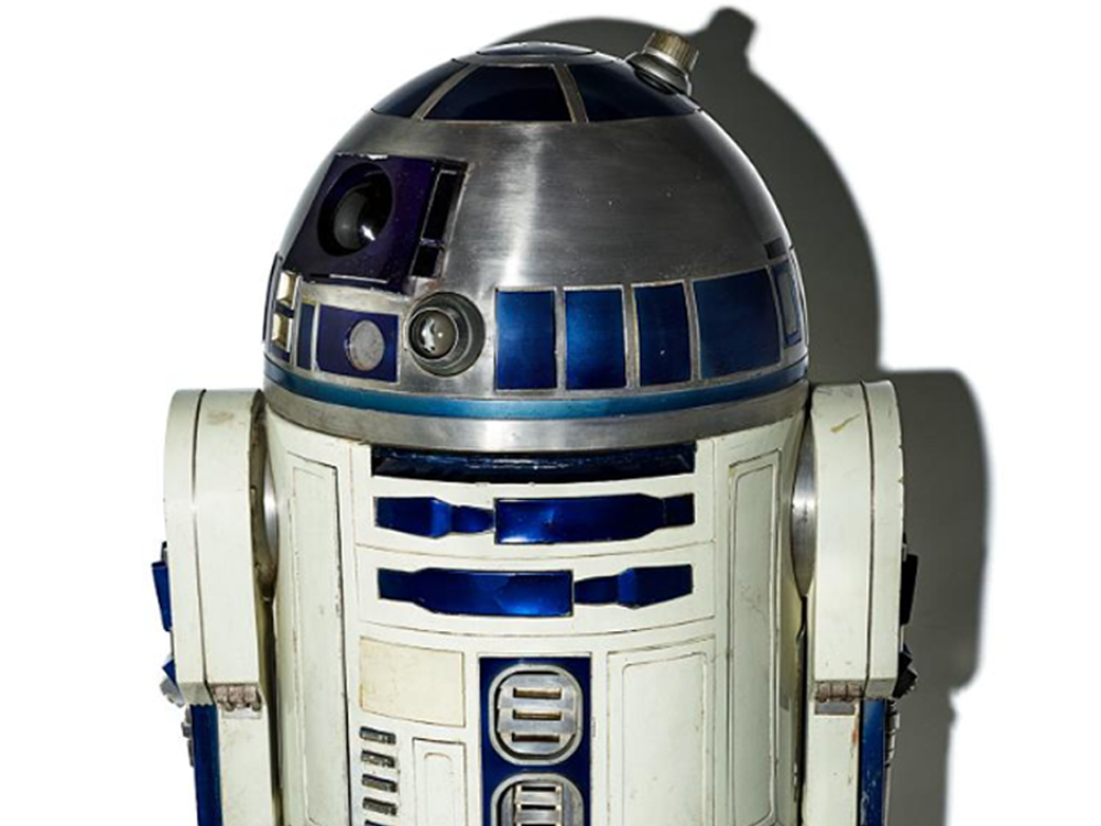 R2-D2 droid costume featured in the movie