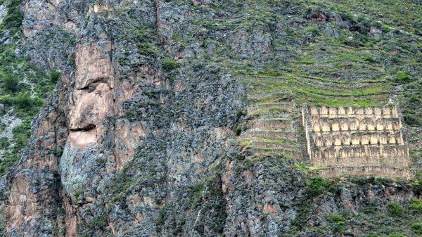 Tunupa's image in stone near Machu Picchu.  thumbnail