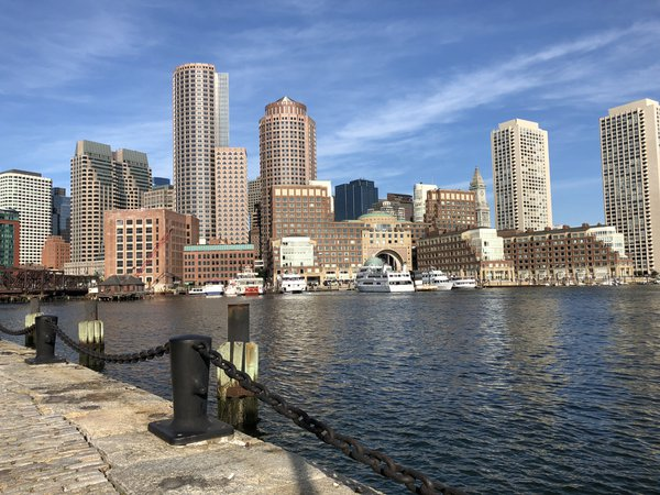 Waterfront Boston city view from Seaport District thumbnail