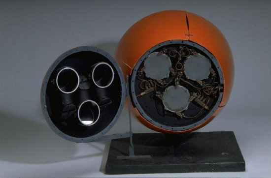 """Nose Cone from B.F. Skinner's Pigeon-Guided Missile, on display in """"Science in American Life."""""""