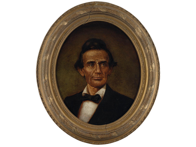 This 1860 portrait of Abraham Lincoln, believed to be by John C. Wolfe, depicts the young presidential nominee without his signature beard