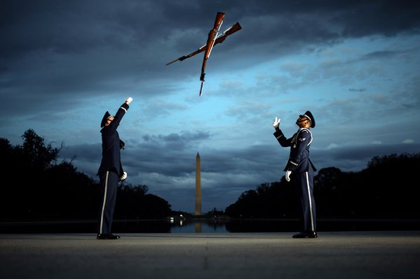 USAF Honor Guard Practices at the Lincoln Memorial thumbnail