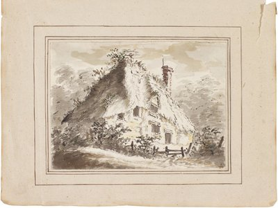The Deserted Cottage (circa 1797) is the original drawing for Constable's only surviving etching from the period.