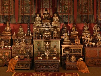 The National Museum of Asian Art's Tibetan Buddhist Shrine Room, from the Alice S. Kandell Collection