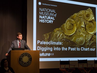 """The National Museum of Natural History's """"Earth Temperature History Symposium"""" convened leading paleoclimate scientists to draw a comprehensive temperature curve of Earth's past climates. (Lucia RM Martino, Smithsonian)"""