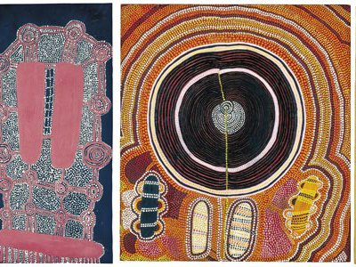 In 1972, with assistance from an art teacher, 11 men formed a cooperative called Papunya Tula Artists.  By 1974 the group had grown to 40.
