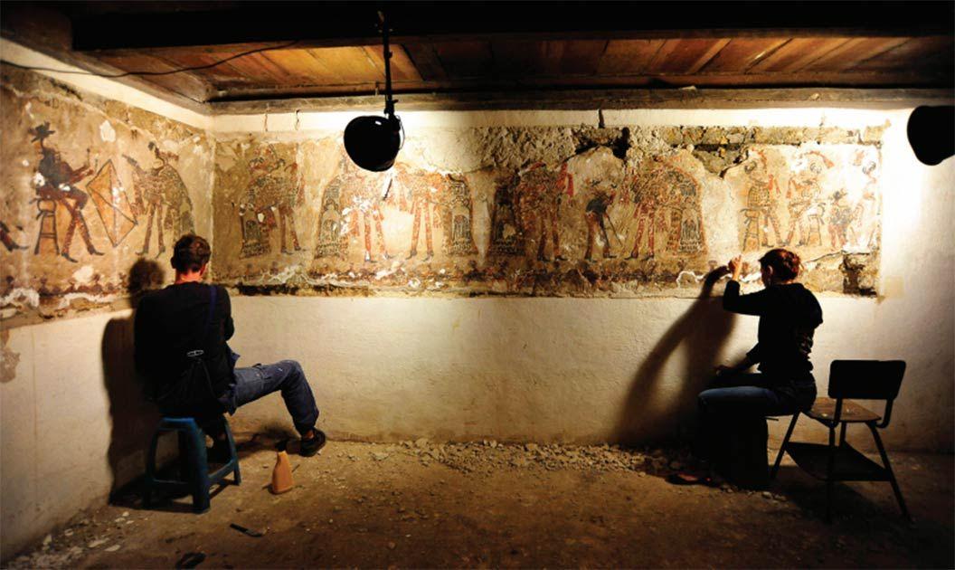 Renovations Reveal Rare Maya Murals Hidden in Guatemalan Home