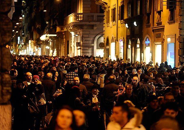 Via del Corso street Rome Italy