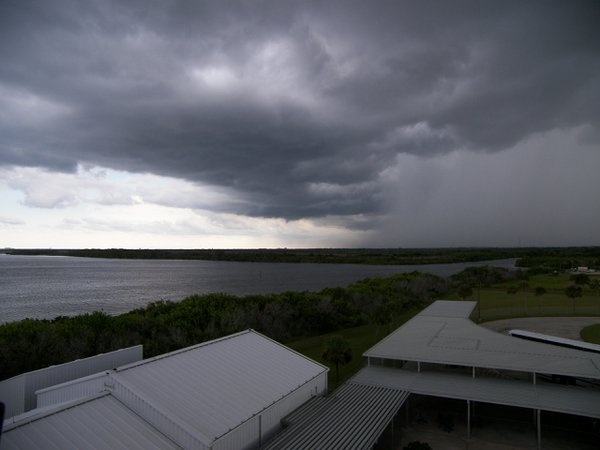 Storm blowing in across Kennedy Space Center thumbnail