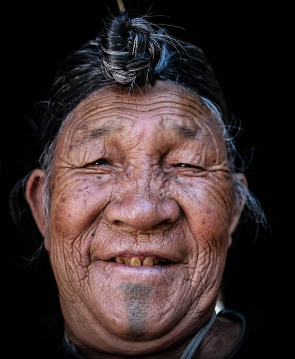 Potrait of an Apatani tribal man . thumbnail