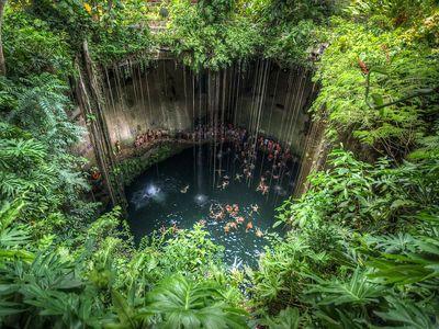 Cenote Ik-Kil, Tinúm Municipality, Yucatán, Mexico
