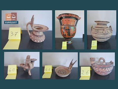 Authorities have returned the illegally transported artifacts to their home country of Italy.