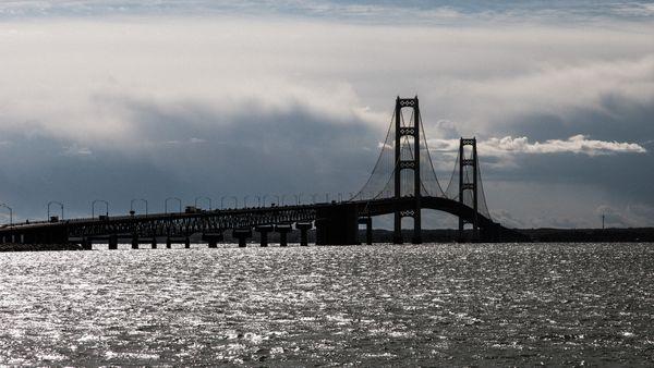 Big Mac, the bridge that spans the upper and lower peninsula of Michigan thumbnail