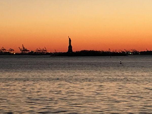 Statue of Liberty at sunset thumbnail