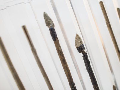 Otzi carried 14 arrows in his quiver, but only two had arrowheads and feather fletching.