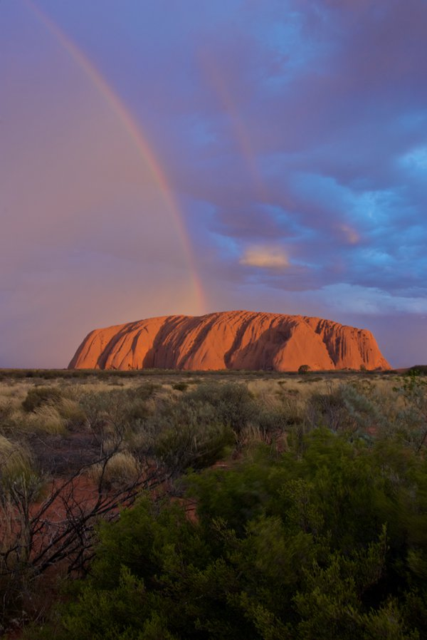 Uluru (formerly known as Ayers Rock) at sunset thumbnail