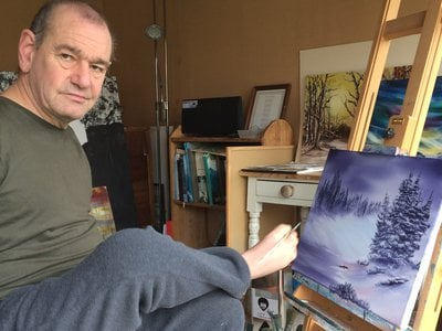 Peter Longstaff, a foot artist who participated in the neurological study.