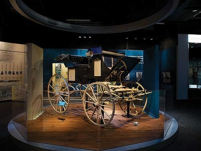 """The carriage that Ulysses S. Grant rode to his second inauguration is one of 900 items in the exhibition """"The American Presidency."""""""