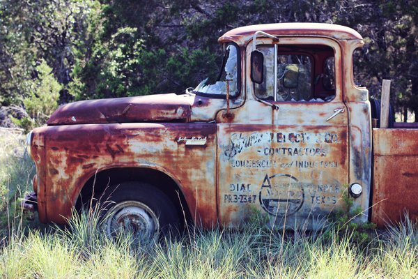 Old Dodge Truck in Field thumbnail