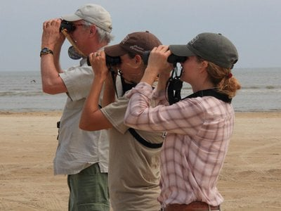 In the new book North on the Wing from Smithsonian Books, author Bruce Beehler (above left) follows the spring migration of songbirds.
