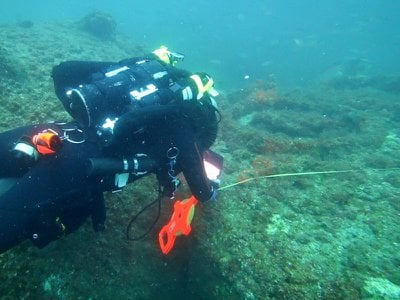 Researchers diving amongst the wreckage of the S.S. Cotopaxi, which disappeared almost 95 years ago.