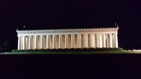 Parthenon on a summer night thumbnail