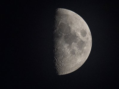The moon at night, as seen from Germany