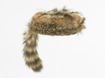 At the height of their popularity in the 1950s, children's coonskin caps like this one from the Smithsonian collections, sold at the rate of 5,000 per day.