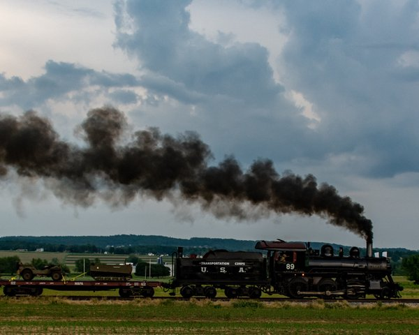 Red Ball Express steaming across Lancaster County, PA thumbnail
